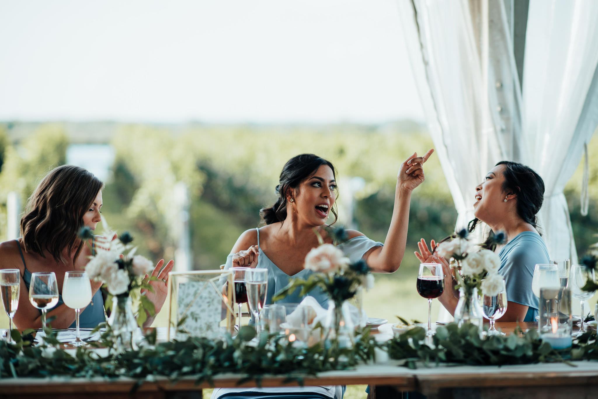 Ravine Vineyard Wedding Reception
