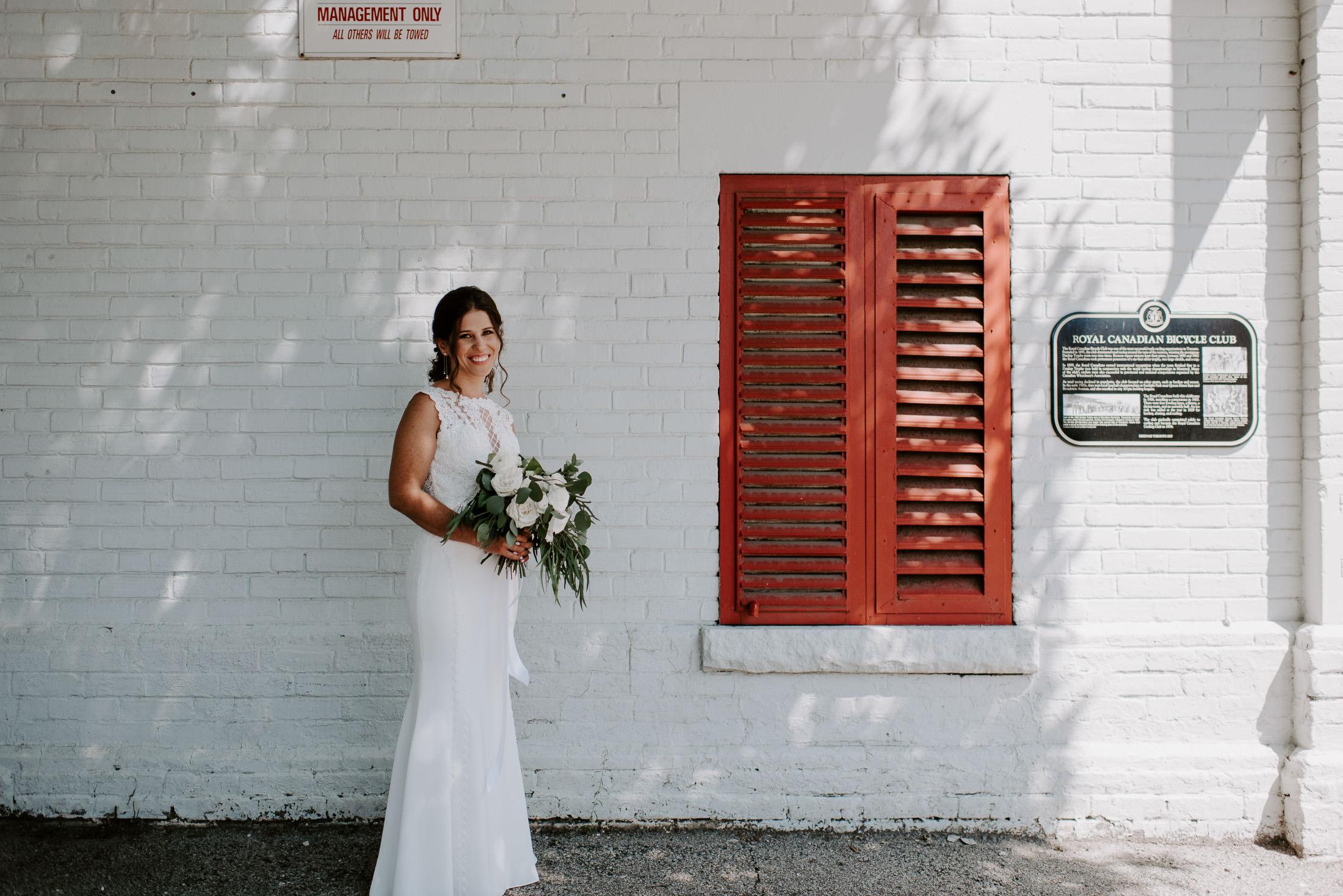 Bride Shadows Portrait