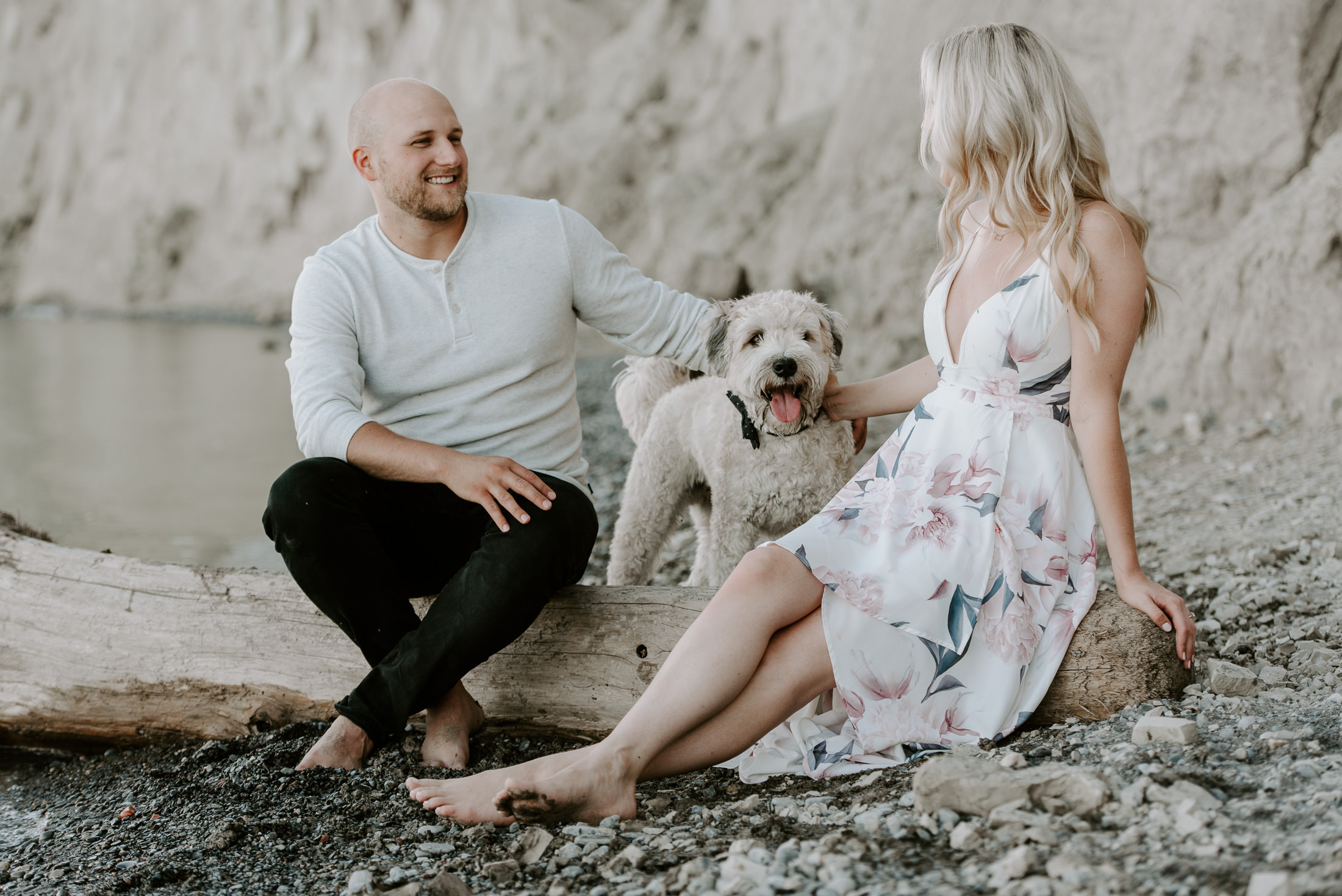 Engagement Session with dog