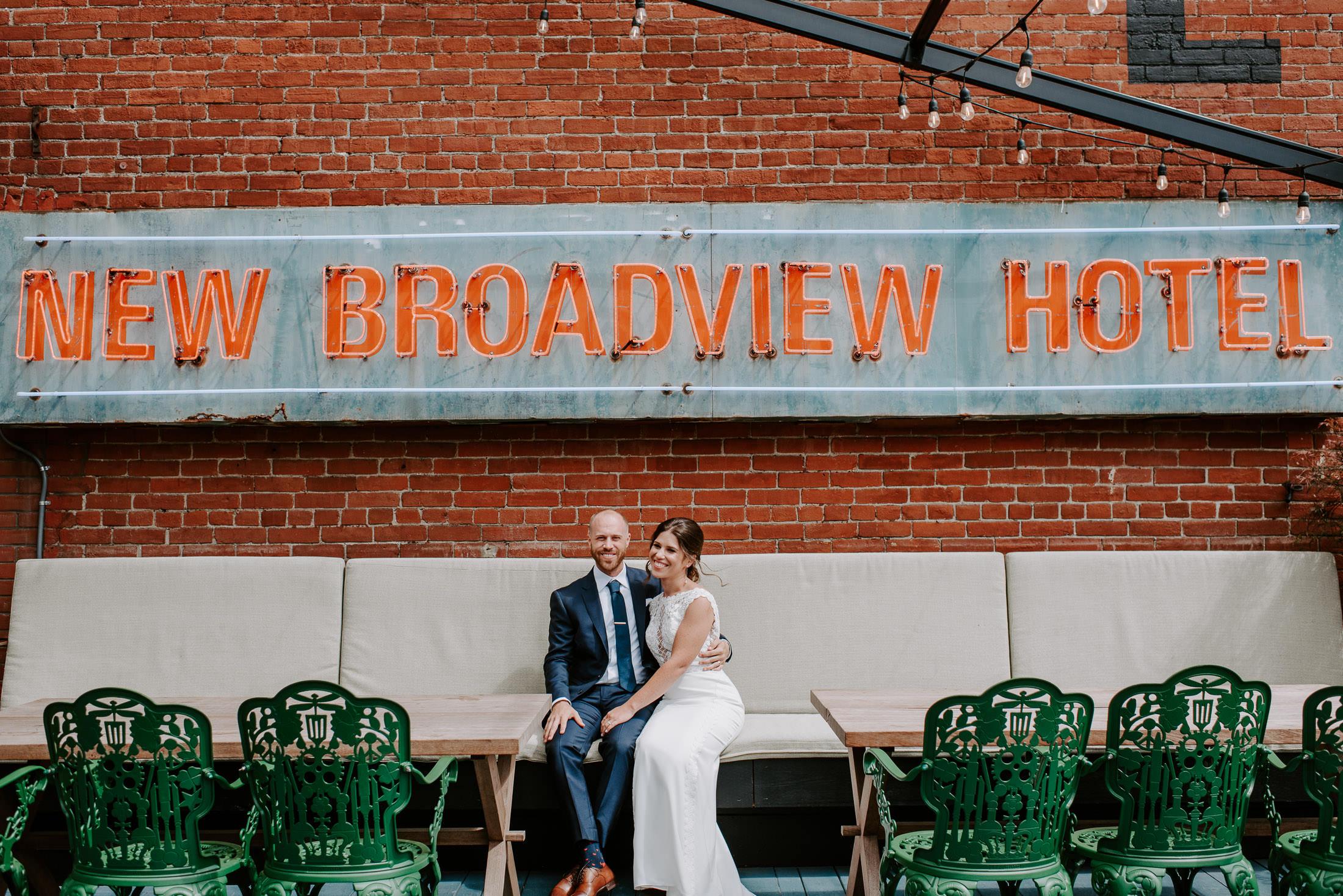 New Broadview Hotel Toronto Wedding Couple