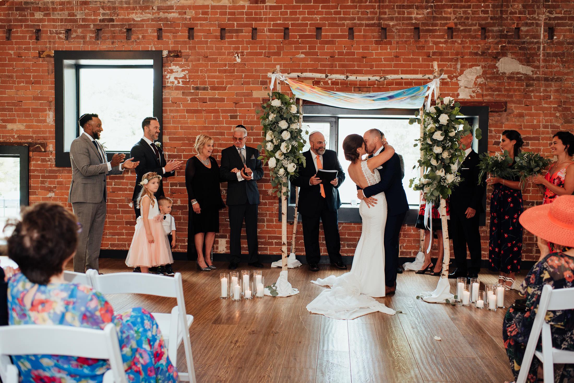 Wedding Ceremony First Kiss