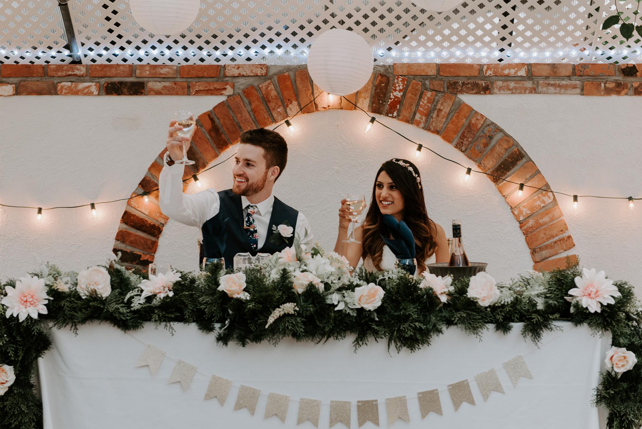 Couple's Table Wedding Day